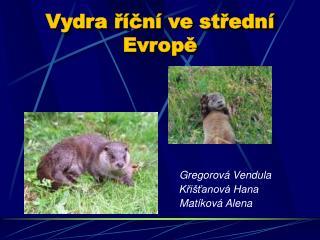 Vydra říční ve střední Evropě