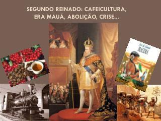 Segundo Reinado: cafeicultura, Era Mauá, Abolição, Crise...