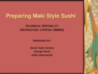 Preparing Maki Style Sushi