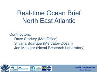 Real-time Ocean Brief North East Atlantic