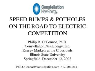 SPEED BUMPS & POTHOLES ON THE ROAD TO ELECTRIC COMPETITION