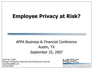Employee Privacy at Risk?