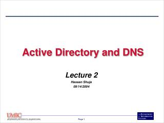Active Directory and DNS