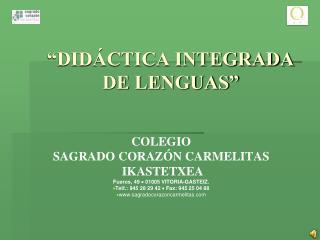 """DIDÁCTICA INTEGRADA DE LENGUAS"""