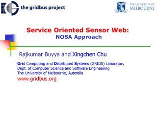 Service Oriented Sensor Web:   NOSA Approach