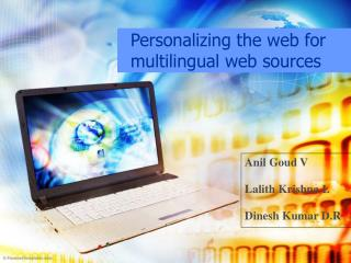Personalizing the web for multilingual web sources