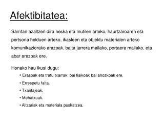 Afektibitatea: