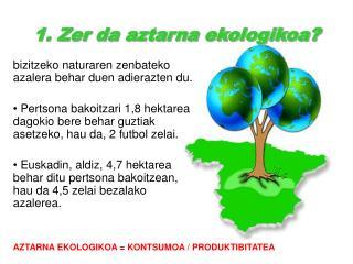 1. Zer da aztarna ekologikoa?