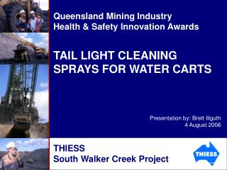 TAIL LIGHT CLEANING SPRAYS FOR WATER CARTS