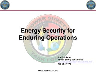 Energy Security for Enduring Operations
