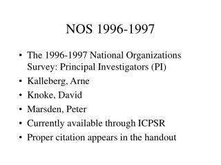 NOS 1996-1997