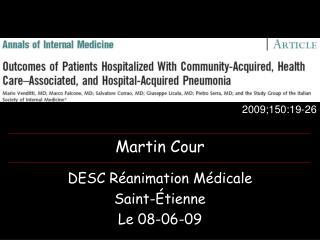 DESC Réanimation Médicale Saint-Étienne Le 08-06-09