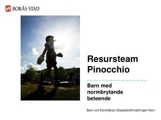 Resursteam  Pinocchio