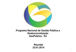 Programa Nacional de Gestão Pública e Desburocratização GesPública  - RJ