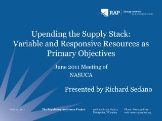 Upending the Supply Stack: Variable and Responsive Resources as Primary Objectives