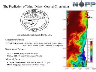 The Prediction of Wind-Driven Coastal Circulation