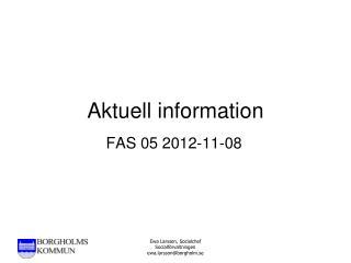 Aktuell information