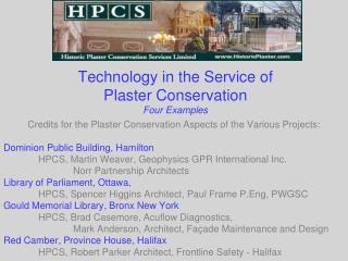Technology in the Service of  Plaster Conservation Four Examples