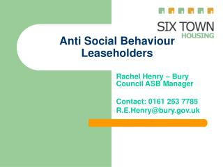 Anti Social Behaviour Leaseholders