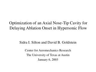 Optimization of an Axial Nose-Tip Cavity for Delaying Ablation Onset in Hypersonic Flow