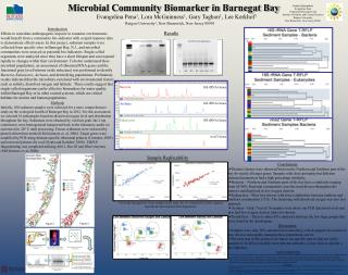 Microbial Community Biomarker in Barnegat Bay