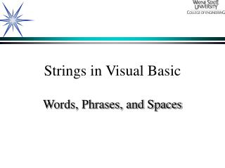 Strings in Visual Basic