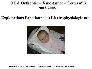 DE d'Orthoptie – 3ème Année – Cours n°3 2007-2008