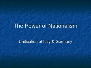 The Power of Nationalism