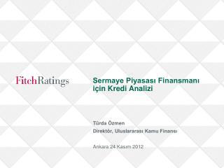 Sermaye Piyasası Finansmanı için Kredi Analizi