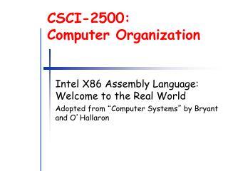 CSCI-2500: Computer Organization