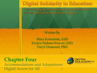 Chapter Four Accommodations  and Adaptations:  Digital  Access for All
