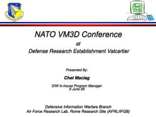 NATO VM3D Conference at  Defense Research Establishment Valcartier