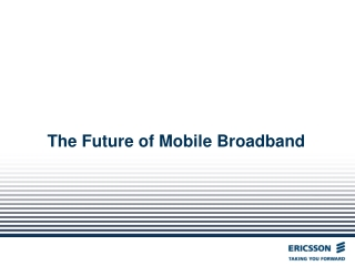 WiMAX Mobile Broadband Services
