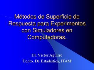 Métodos de Superficie de Respuesta para Experimentos con Simuladores en Computadoras.