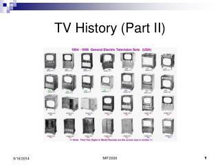 TV History (Part II)
