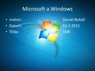 Microsoft a Windows