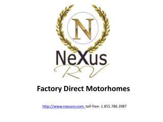 Class C Motorhomes - 31p Phantom - Factory Direct from NeXus