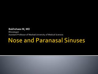 Nose and Paranasal Sinuses