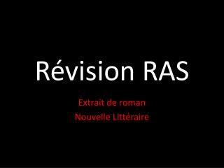 Révision RAS