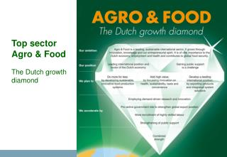 Top sector  Agro & Food The Dutch growth diamond