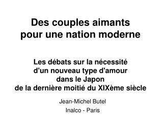 Jean-Michel Butel Inalco - Paris