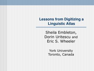 Lessons from Digitizing a Linguistic Atlas