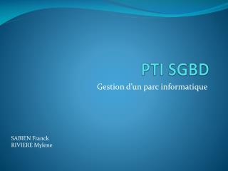 PTI SGBD