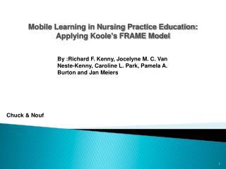 Mobile Learning in Nursing Practice Education: Applying Koole's FRAME Model