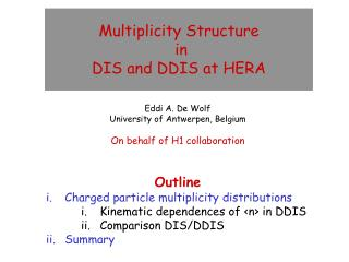 Multiplicity Structure  in  DIS and DDIS at HERA