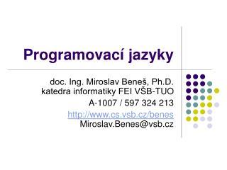 Programovac í jazyk y