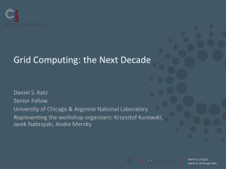Grid Computing: the Next Decade
