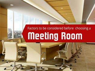 Considerations for choosing meeting room rental in Singapore