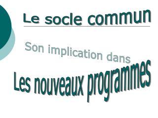 Le socle commun