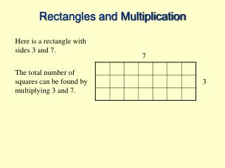 Rectangles and Multiplication